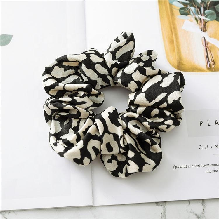 Быстрая доставка Leopard Scrunchie волосы Scrunchies для волос