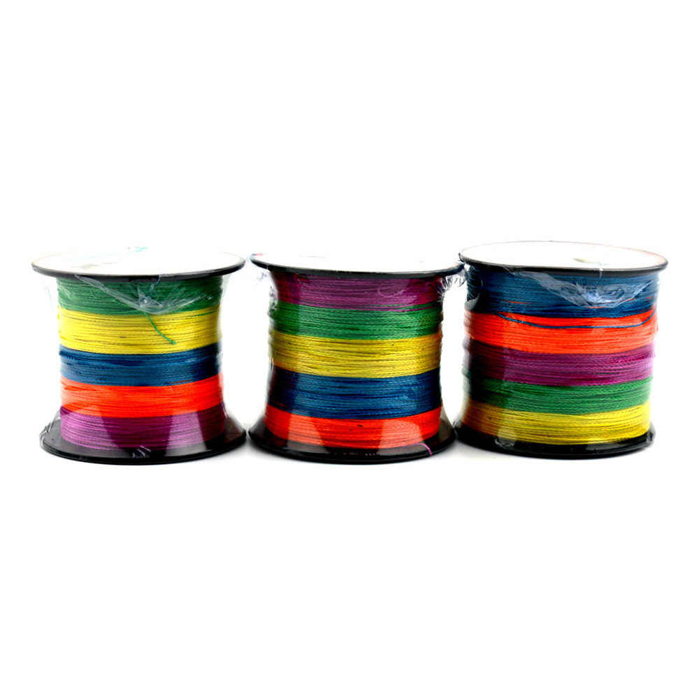 Hengjia New Arrival 300m Super Strong Multifilament Polyethylene Braided Fishing Line 4 Strands Wire