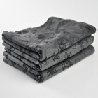 Hot sale black activated carbon towels super absorbent large size towel china oem
