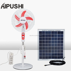 12v dc solar motor ceiling rechargeable stand fan with led light air cooling 16inch Brushless Electric Powered