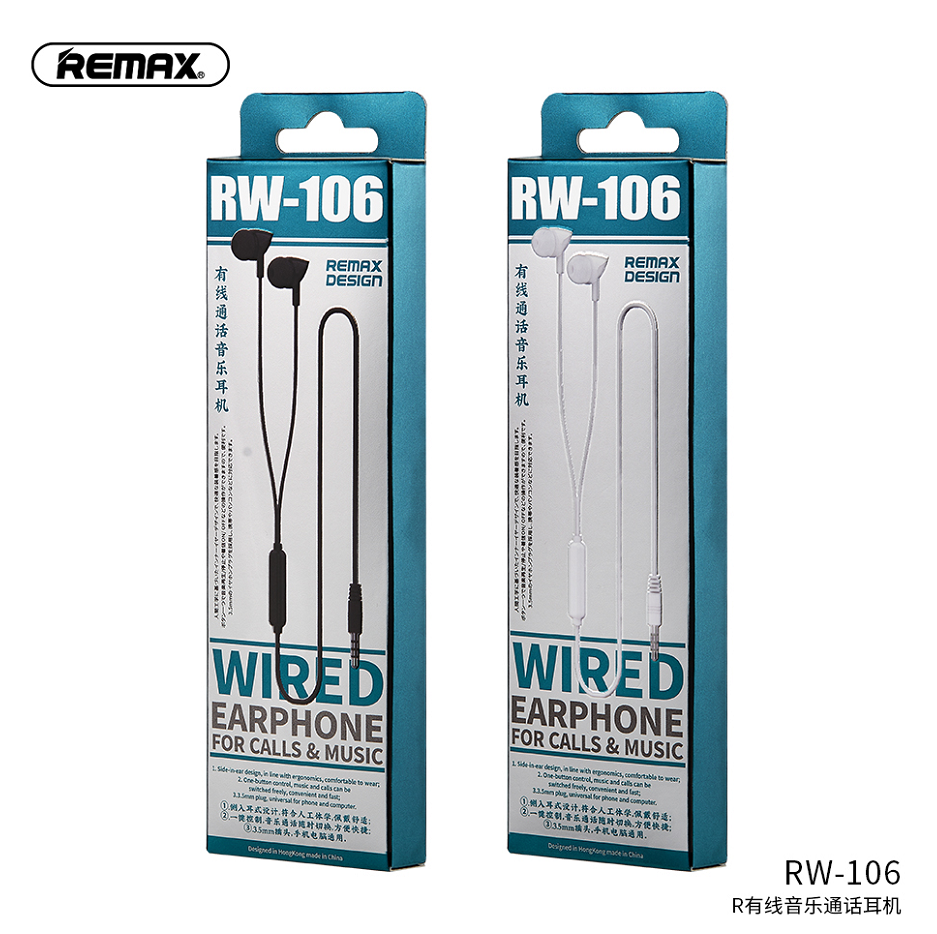 REMAX NEW High Quality In-Ear Wired  Music Earphone 3.5mm Stereo for Mobile Earphone