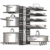 Lengthen Style Expandable Adjustable Pan Rack Organizer