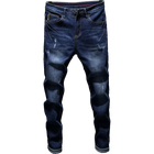Guangzhou Boyfriend Oem Stylish Highwaist Custom Denim Elastic Street Men Manufacturer Name Brand Jean Pent
