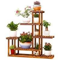 Wooden Plant Flower Pot Display Stand Wood Shelf Storage Rack