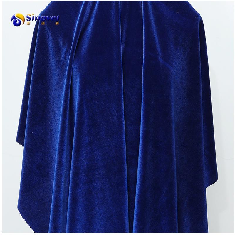 Brillant de haute qualité de vêtement de velours tissu tricoté tissu pour vêtement