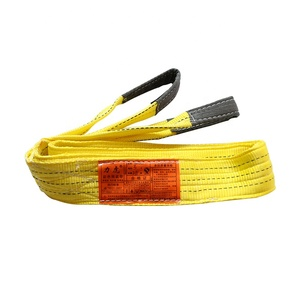 Professional manufacturer high quality polyester 12 Ton 8M webbing lifting slings belt towing belt strap cheap price