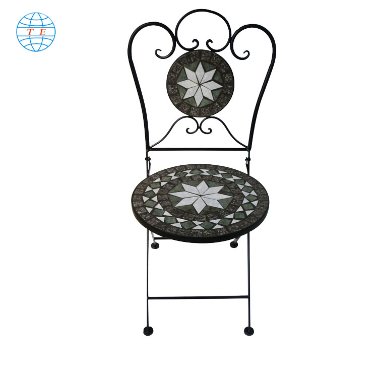 mosaic art garden metal set Outdoor ,cheap outdoor mosaic metal chair