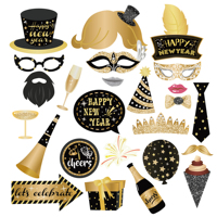 new year party supplies happy new year party props 25pcs diy photo booth props new year party 2020