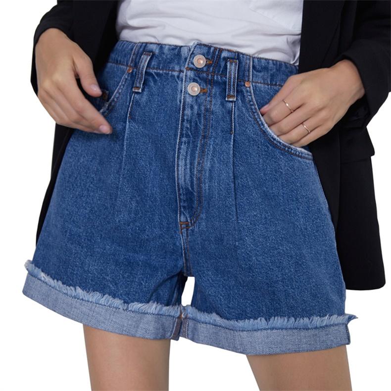 Estilo Europeo Mujeres Moda De Cintura Alta Linea Pantalones Cortos De Jean De Denim Para Damas Buy Pantalones Cortos Vaqueros Para Mujer Pantalones Cortos De Mezclilla Para Mujer Pantalones Cortos De Mezclilla Para