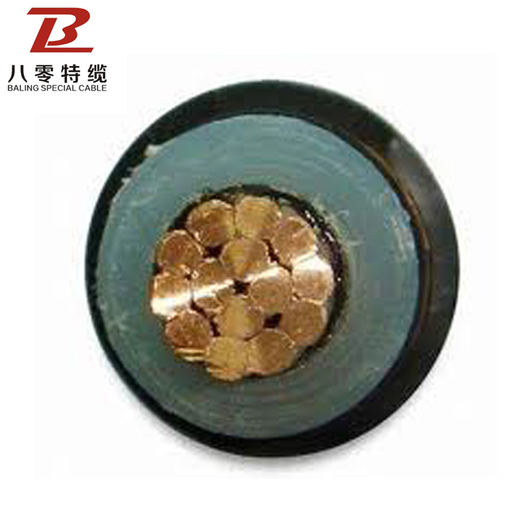 Black Customised Pvc Medium Voltage Copper Or Aluminum Power Station H07rn-f Screen Cable Single Core Unarmoured Cables