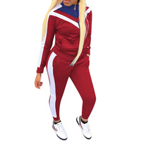 Wholesale long sleeve 2 Piece outfit sweatsuit set tracksuit for women