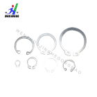 304 stainless steel inner and outer circlips for C-shaped holes with elastic retaining ring round snap ring card yellow card kin