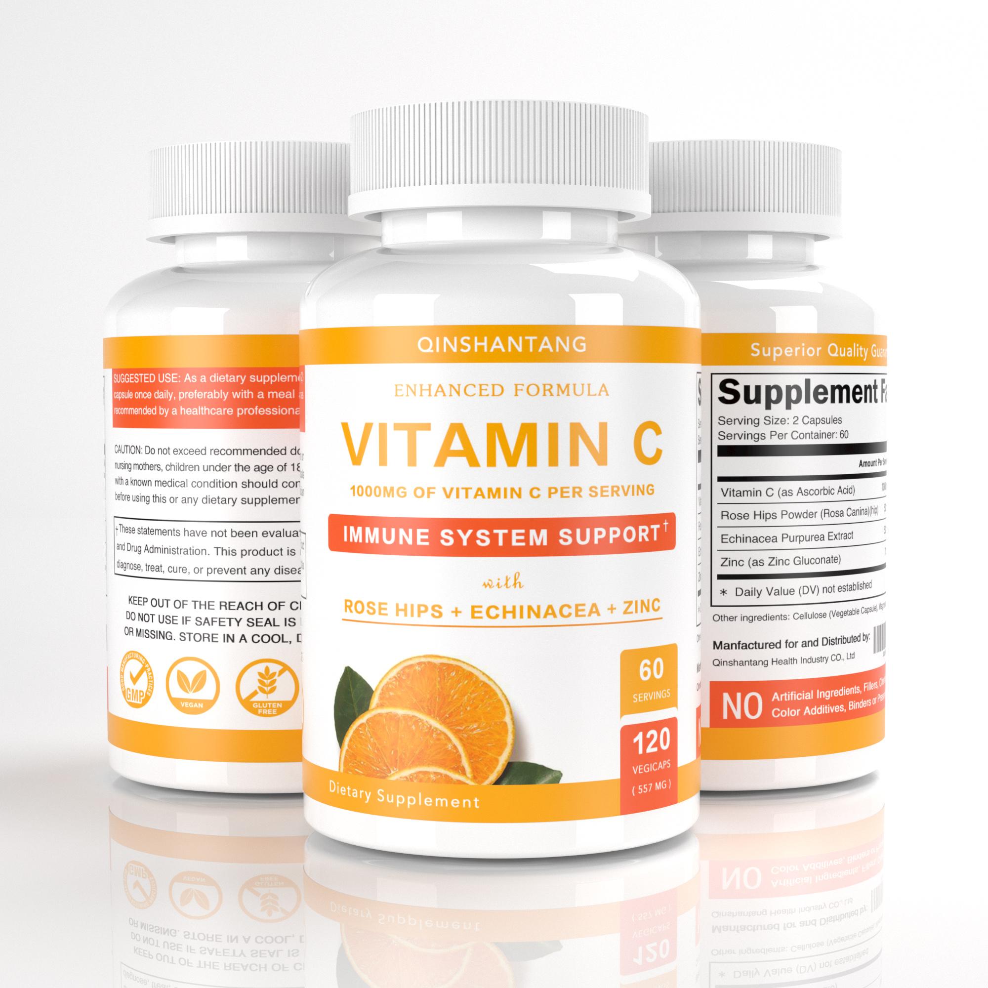 4-Trong-1 VIT C Viên Nang/Thuốc Khả Năng Miễn Dịch Bổ Sung Rose Hips, Kẽm, Echinacea, vitamin C Miễn Dịch Tăng Cường