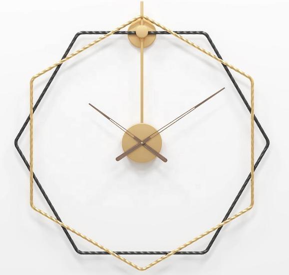 Silenzio Antico Vintage Europeo e Americano Creativo Orologio Da Parete di Grandi Dimensioni