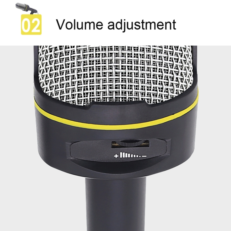 Cable Length: 1.5m etc. Compatible with PC and Mac for Live Broadcast Show KTV Live Broadcast Accessories SF-911 Professional Condenser Sound Recording 3.5mm Jack Microphone with Base Holder Black
