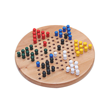 Wooden Chinese Checkers Family Board Game Set  with All Natural Wooden Materials