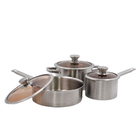 Durability home restaurant cookware set 3pcs die casting aluminium fry pan and pot
