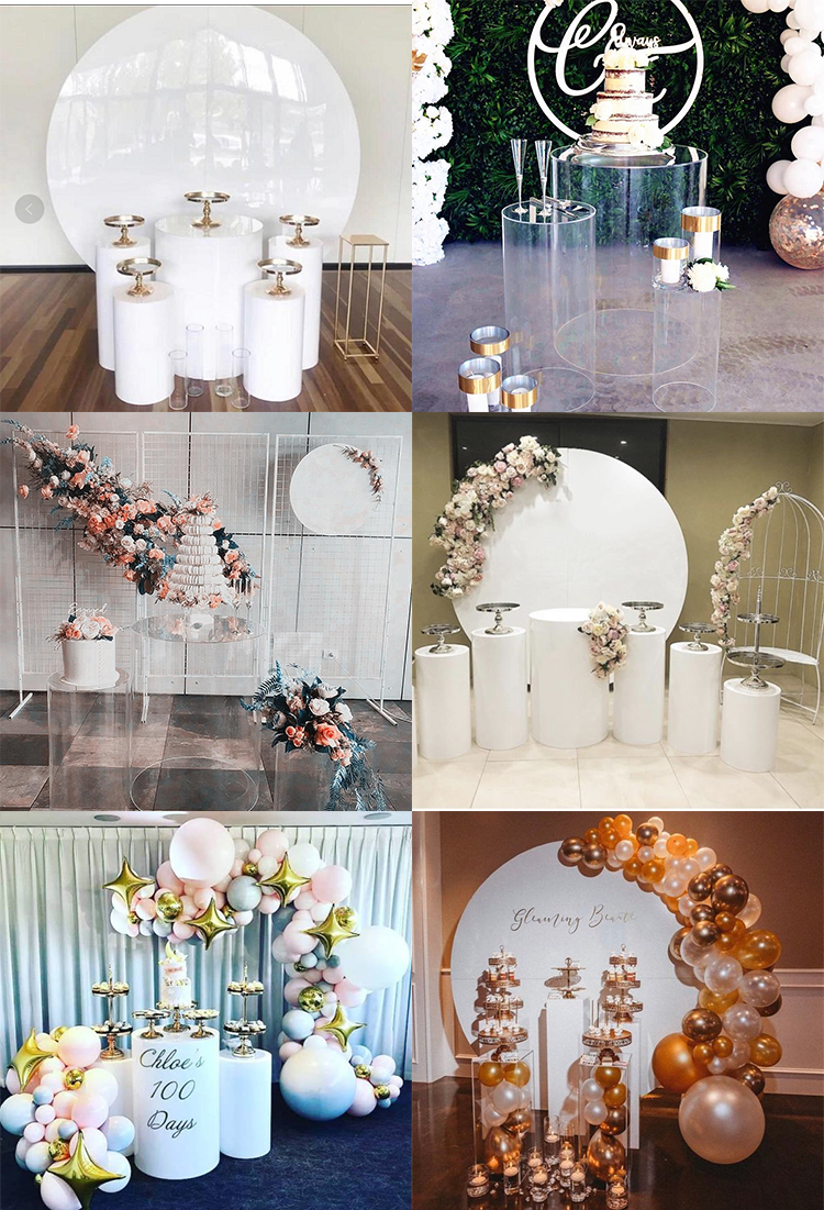 NAXILAI Acrylic Flower Stand For Wedding Backdrop Stand Wedding And Wedding Pedestal Columns