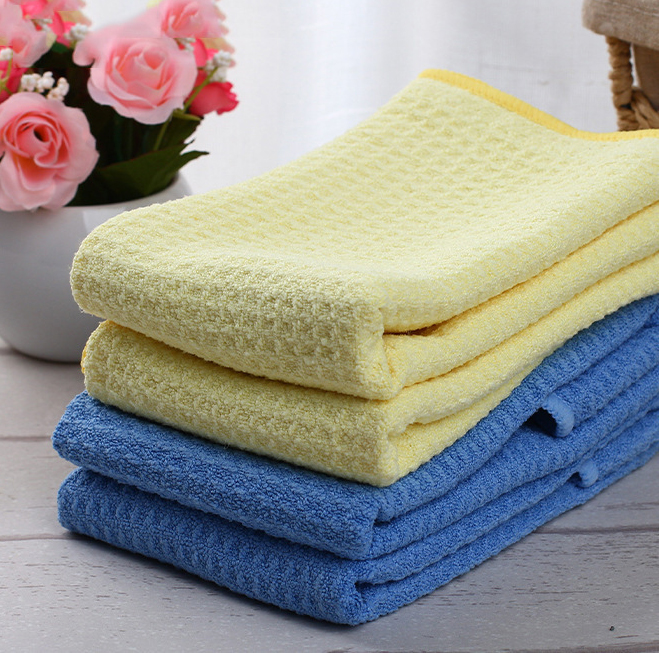 wholesale quickdrying cleaning cloth waffle microfiber car cleaning cloth towel