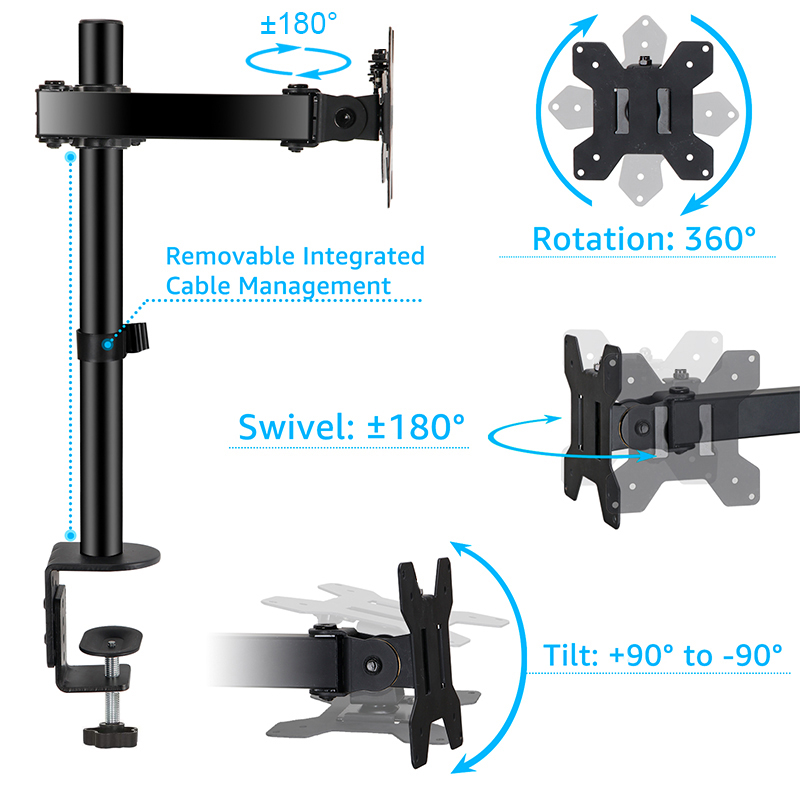 "Brand New 360 Degree Articulating/Swivel Monitor Mount Arm Monitor Stand for 13""-27"" Screens"