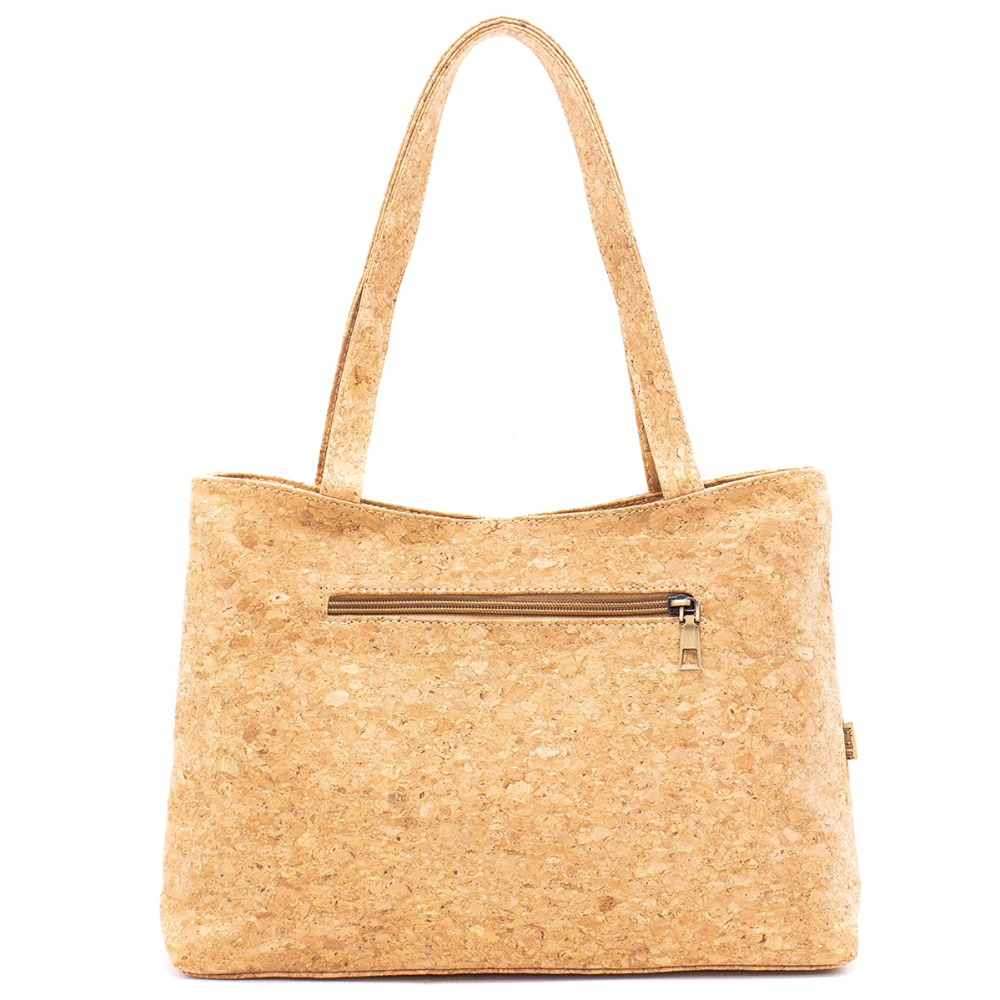 product-GF bags-Newest Fashion Eco-friendly Girls Natural Cork Handbag with Front Zipper Pocket-img-1