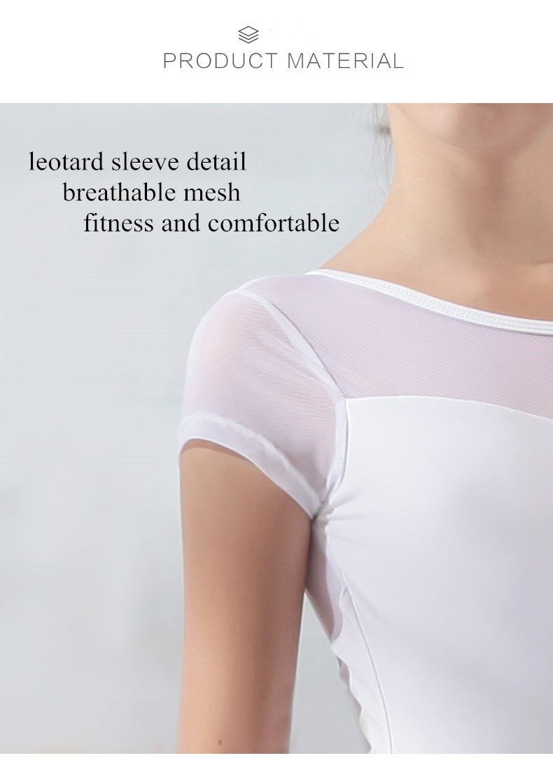 117341004  Baiwu  dance wear  Short Sleeve leotards gymnastics girls