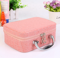 Large capacity new multi-function portable makeup box travel portable cosmetic storage bag