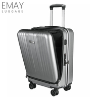 Custom Maleta Cabin Trolley Bags Business Bags & Cases Smart Carry-on Luggage Wiht USB Charging Port