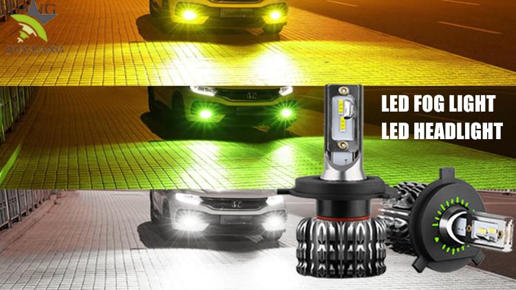 Super brillante de alta potencia alta baja y haz de luz Led 36W bombillas de faros H4 H7... 9005 de 9006 H1 H11 H3 Auto C6 K1 H7 h4 LED faro