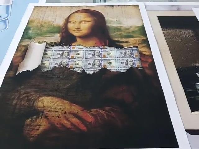 אמריקאי דולר הדפסי ניאון סימן פוסטר כסף תמונות קיר אמנות תמונות ציורי בד בית דקורטיבי תפאורה מודרני