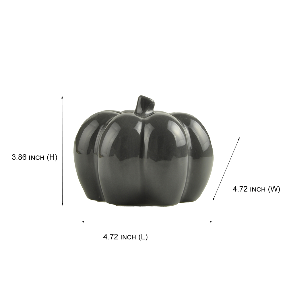Factory Wholesale New custom design Ceramic Small Pumpkin indoor Decoration Halloween Home Decor with 3 ASST