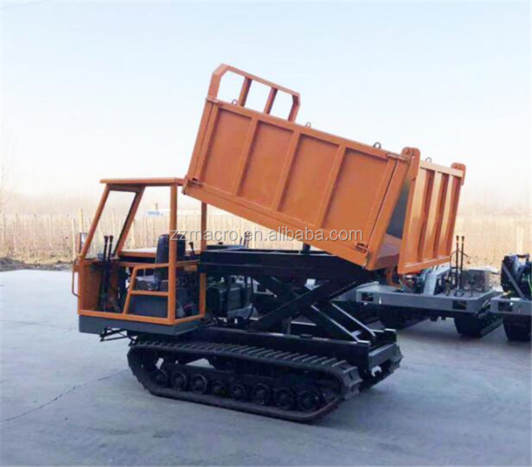 4x4 China Site DumpersWheeled Hydraulic Diesel Powered Four Wheel Front Dump Truck