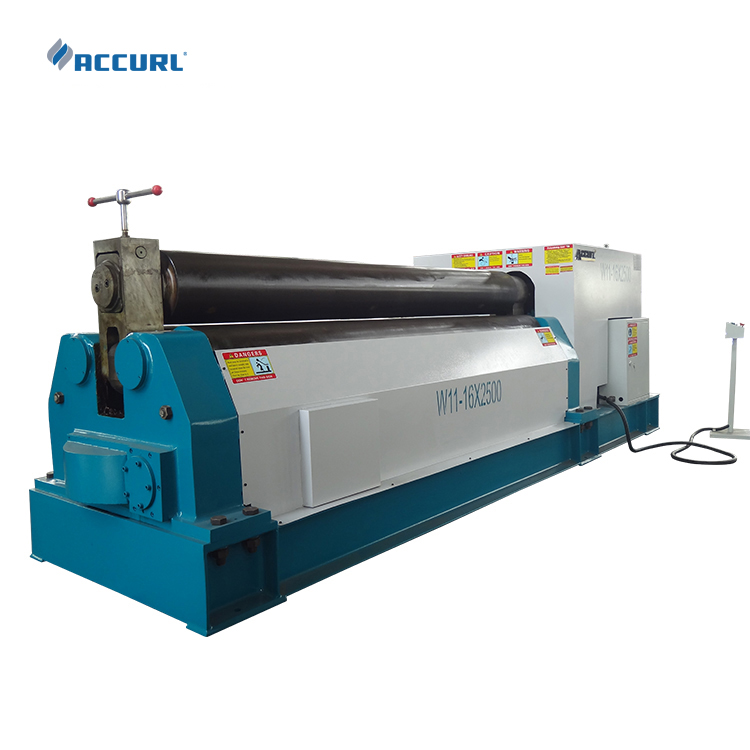 W11-4*1500 electric partial three small roller bending coiling sheet machine price
