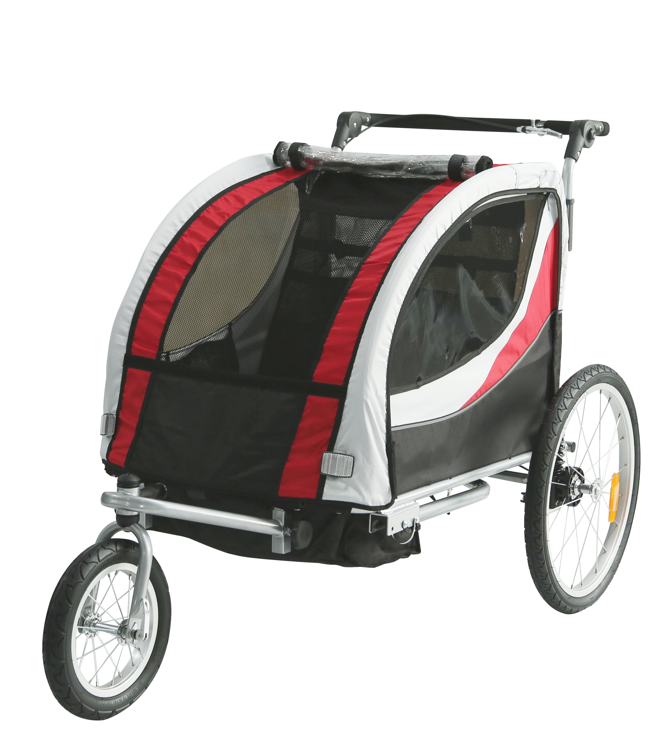 Ebike cargo trailer foldable children carrier bike trailer stroller jogger with EN15918