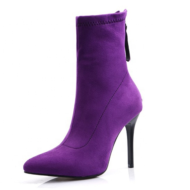 Venta Al Por Mayor Zapatos Para Vestidos Morados Cortos