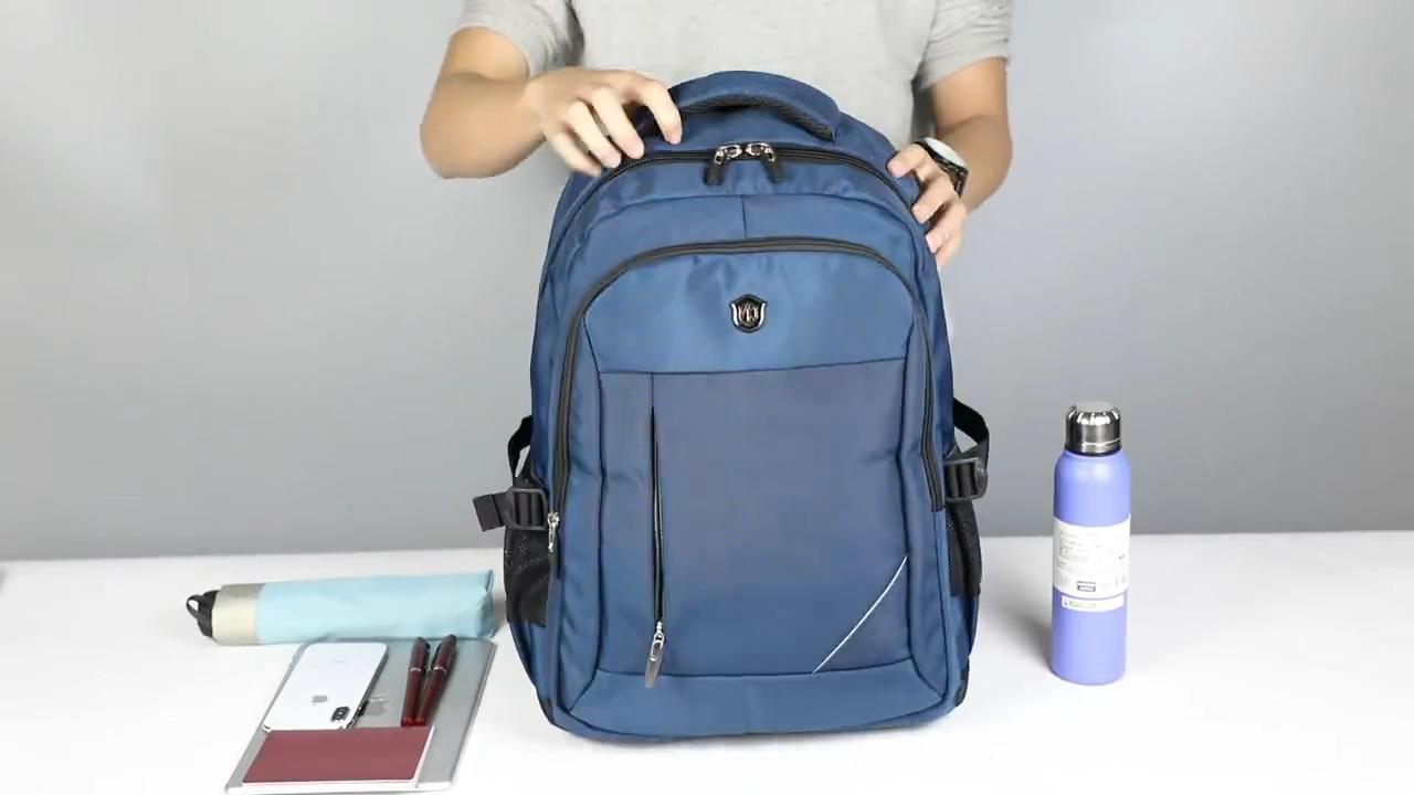 Aoking Men and Women Laptop Backpack 24L Rucksack SchooL Bag Travel waterproof Backpack Male Notebook Computer Bag black