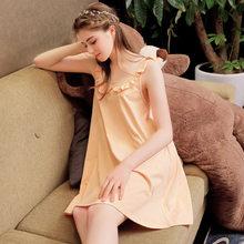 Хлопковая Ночная рубашка на бретельках, дамское нижнее белье, ночная рубашка для женщин на весну и лето, большие размеры, сексуальная ночная...(Китай)