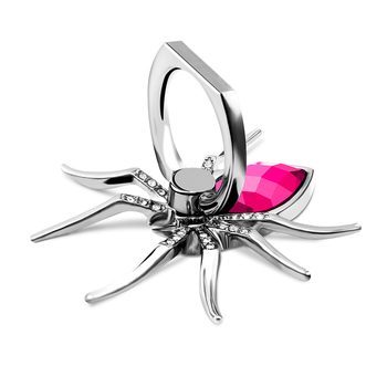 Universal Luxury Diamond Metal Spider Mobile Phone Finger Ring Holder 360 Rotate Stand for iPhone Sumsang Huawei Xiaomi