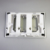 Wholesale wall hung square sliver toilet Dual flush ABS toilet push button