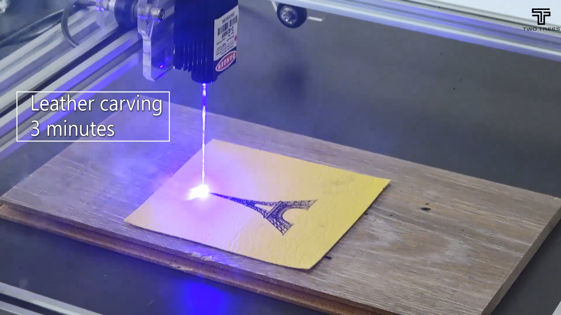 TWOTREES Aluminum alloy 2.5W 5.5W 30x40cm cutting machine cnc engraving machine CNC DIY mini laser cnc engraving machine