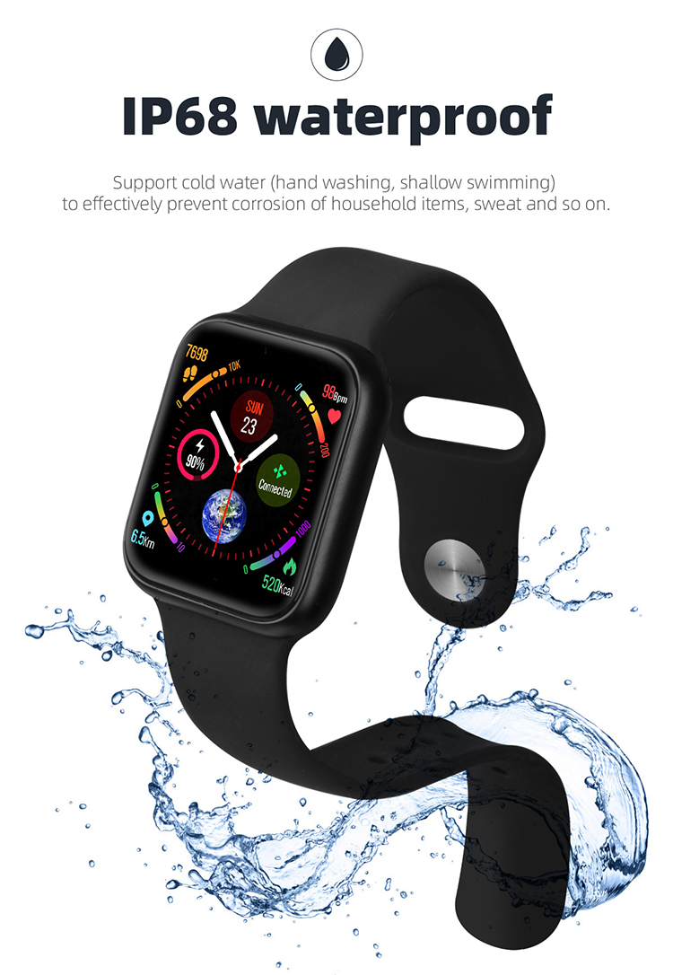 Music Player Multi-Sports Mode Fitness Tracker Waterproof P90 Smart+Watch for men VS W34