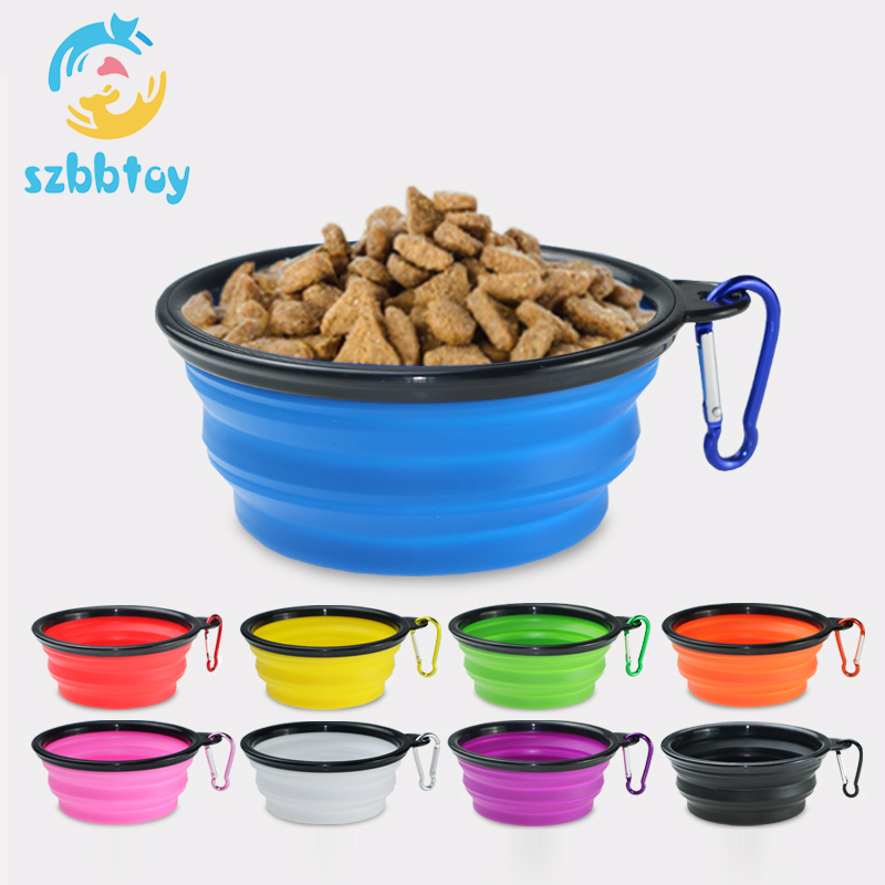 Silicone collapsible <strong>dog</strong> <strong>bowl</strong> plastic feeder pet cat food foldable travel <strong>dog</strong> <strong>bowl</strong>