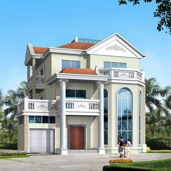 Prefab Luxury Villa Light Steel Structure Villa Modular Building Prefab Homes 3 Bedroom House Plans