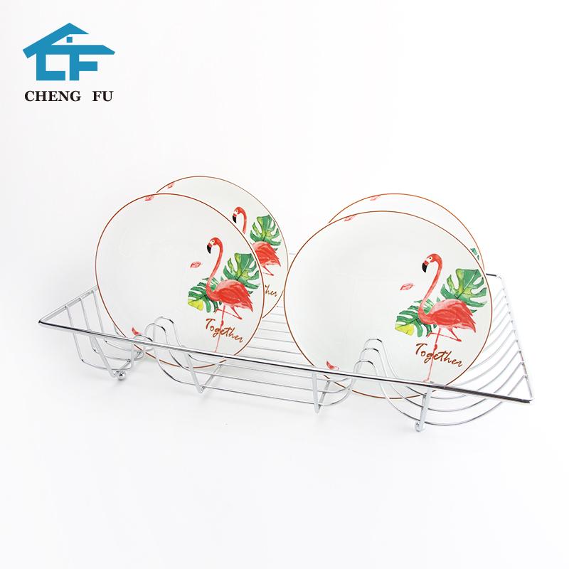 ที่ดีที่สุดขายผลิตภัณฑ์ Sturdy Chrome โลหะเหล็กลวด Dish Drainer ตู้แร็คอบแห้ง