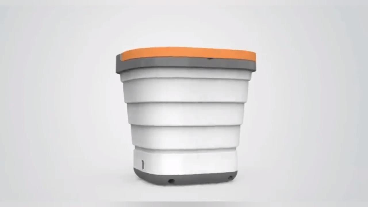 Автоматическая Мини-стиральная машина для путешествий Мини Складная портативная стиральная машина ведро