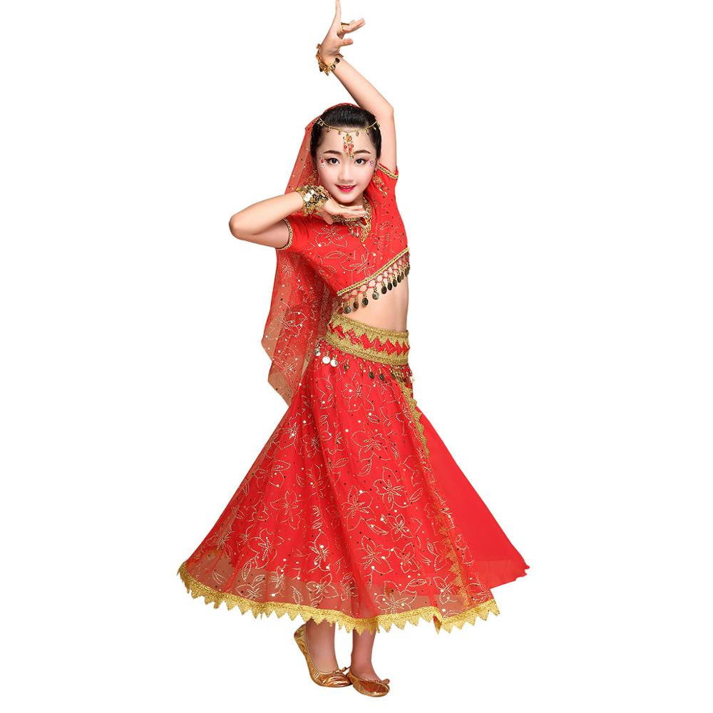 Performance kid belly Bollywood dance Costume For Girls фото