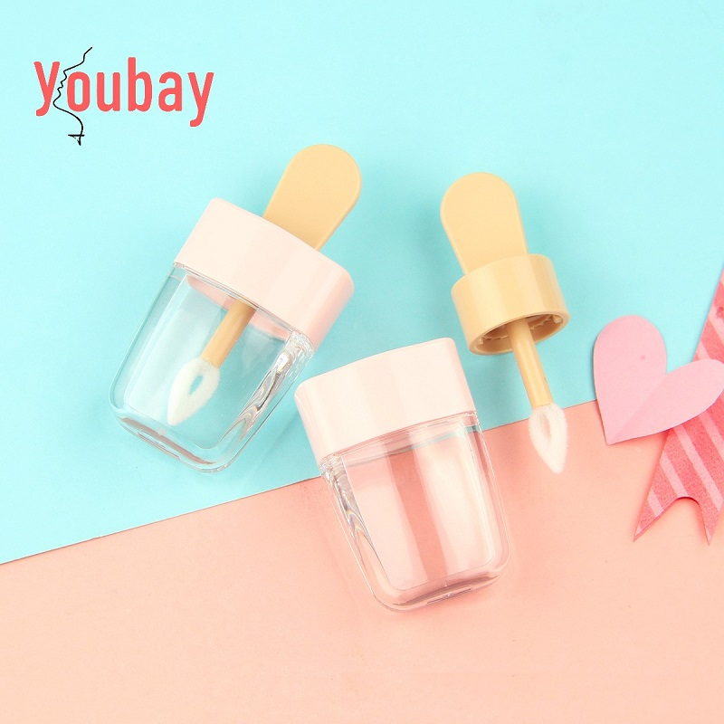 2020 New Cute Pink Ice Cream Popsicle Lipgloss Tube Unique ...