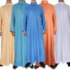 2020 High Quality Shiny Mercerized Velvet Saudi Arabia Muslim Men Thobe