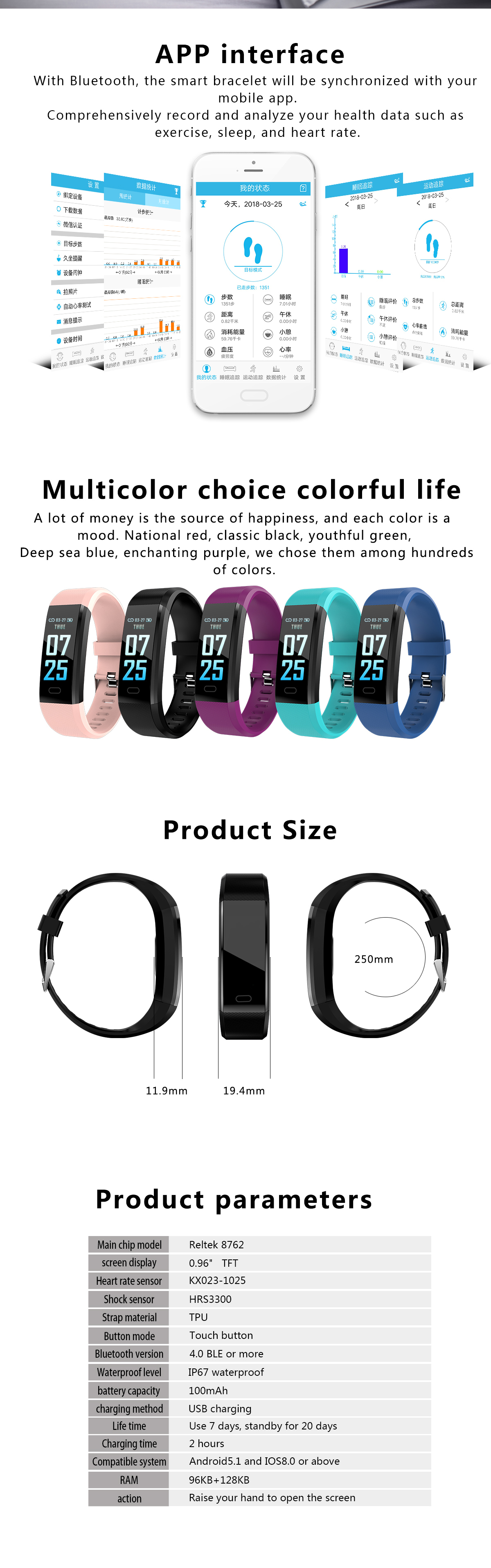 New Product 115Plus Smart Watch 2020 Hot Sale Mens Women Sports Fitness Wrist Waterproof Bracelet Bluetooth Android Watch Band