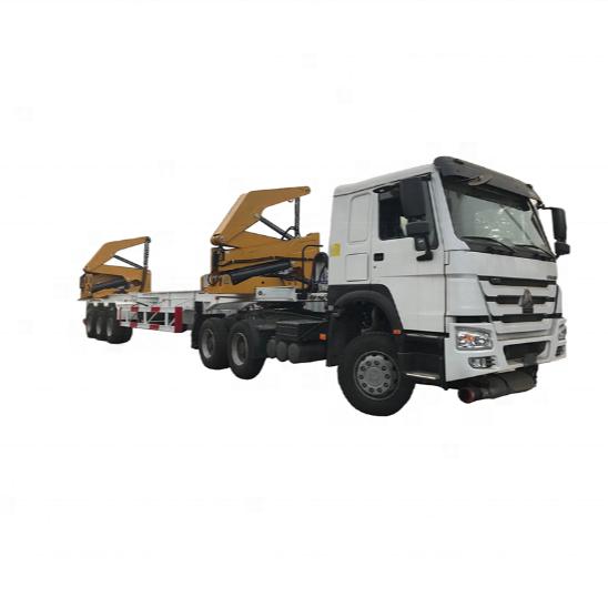 2018 ต่ำราคา 3 เพลาคอนเทนเนอร์ sidelifter 37 ตัน 40ft Container Side Loader trailer